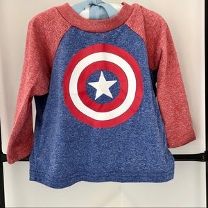 Marvel Captain America Dri-fit Shirt - size 12M